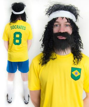 Sócrates Brazil World Cup Football Fancy Dress Costume